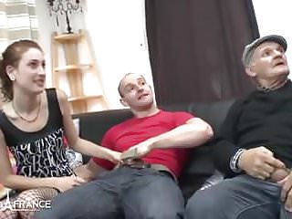 Amateur small titted french slut analyzed and gangbanged