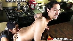 Alt thug rimming and feeding his boyfriend with cock