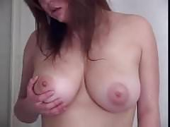 Big tit Asian plays in shower