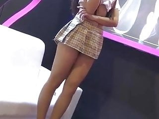 Asian miniskirt clips