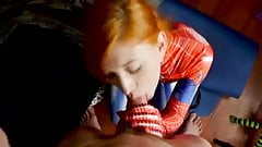 Cute redhead Spidey cosplay cocksucker's Thumb