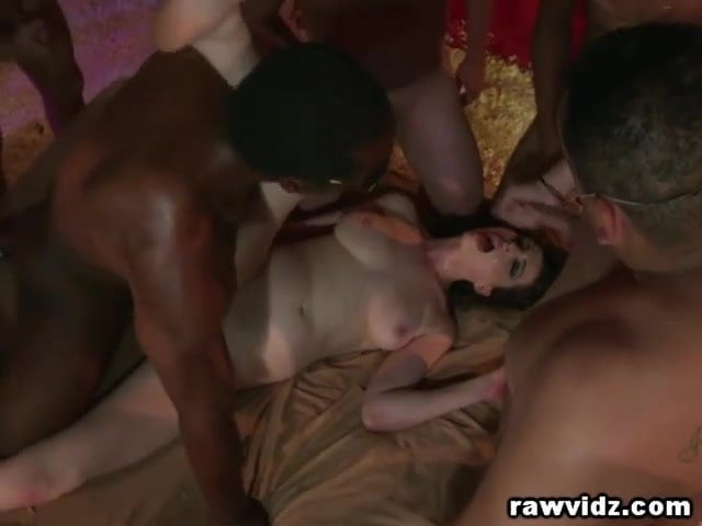 Whore House Gangbang For A Cock Craving Slut