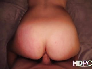 HD POV Amy Fair looks into your eyes as she gives you a blow