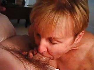 granny loves the taste of hubby's cock