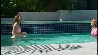 Bitch in heat banged by the poolside