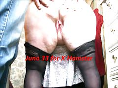 Granny in girdles bends over