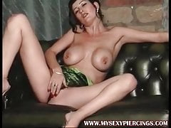 My Sexy Piercings Busty pierced MILF with pussy rings