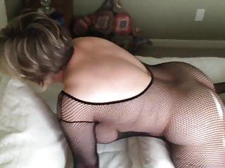 Black moms sex tubes - Mom is cumming while wearing a black bodystocking marierocks