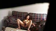 My girlfriend home alone caught by hidden cam