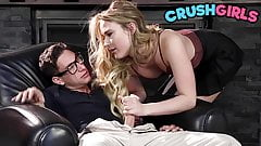 Petite blonde pornstar Alyssa Cole fucking her teacher