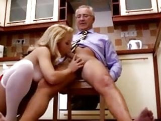 Sexy babe gets anal from old guy and loves it