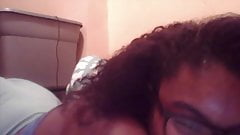 Black teen pussy and ass on webcam
