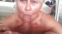 65 year old granny sucks cock pov style