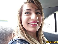 Solo latina tranny pulling her dick