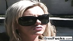 Naturally busty Bree Olson fucks him until he cums in her