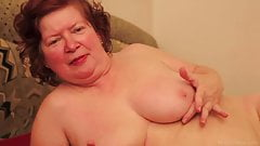 Chubby redhead mom masturbation