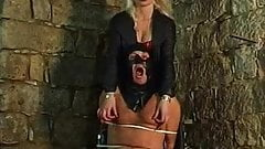 Blonde mistress nipple torture
