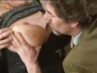 Gaynor MILF - Monster Natural Tits DP'd & Anal in Stockings