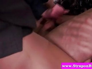 Strapon loving slut pegging guy