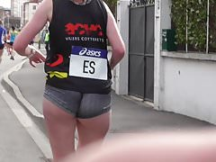 Runner with a short short