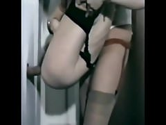 Two hairy matures have fun with cock