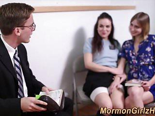 Mormon babes seduce elder