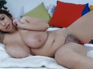 Amazing woman play with her great body