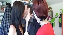 Mature french anal party