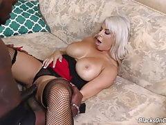 Mother Alyssa suck and fuck big black cock