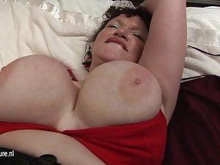Big Breasted mature mom KIM get naughty