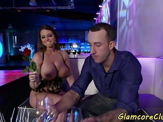 Bigass pornstar beauty rides cock in public