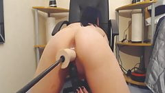 Testing out new dildo machine - Add her Snapcha-t EmmaMeys