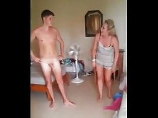 Boys squeesing girls naked butt - Cfnm humilation boy naked in front of girls, girls laughing