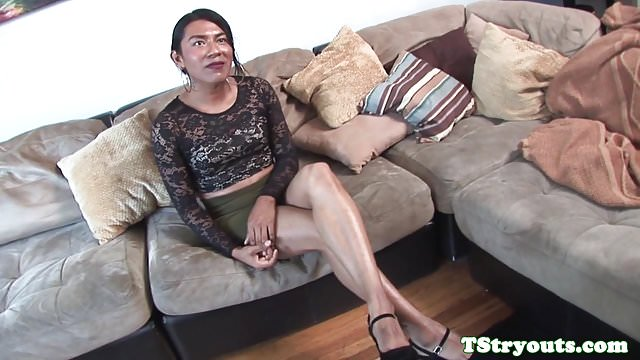 Preview 1 of Mexican amateur trans cocksucks at audition