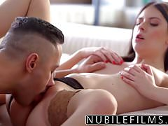 NubileFilms - Hot Fuck With My Step-Daddy After Mom Leaves