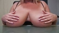 BIG TITS TEASES AND FUCKS HERSELF