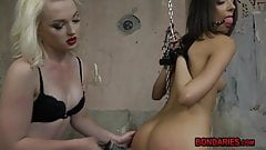 Hot chick gets punished,spanked and dominated by mistress