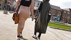 Fat ass in tight long dress