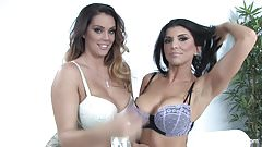 Big boobed hotties Alison and Romi get it on