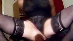 my GAPING BITCH ASS riding HUGE BLACK DILDOS!!!