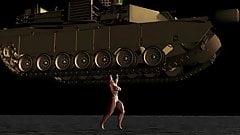Muscle girl tank lift