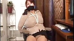 Elane bound, gagged, and mouth fucked
