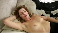 Small Breasted Mature Milf in Black Stockings Fingers