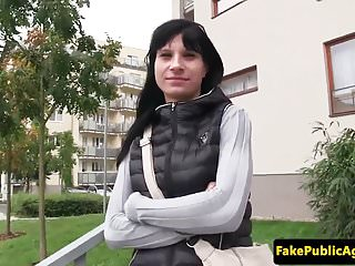 Pulled euro beauty jizzed after cockriding POV