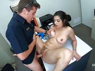 Screw The Cops Cuffed Latina Fucked By Two Cops