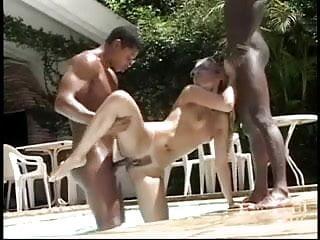 Cris Bel's Poolside Threesome
