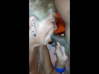 Old granny sucks make oral sex with me