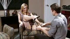 British Milf Gets Her Stockings Jizzed