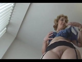 Mature British In Stockings Upskirt Tease  Xed