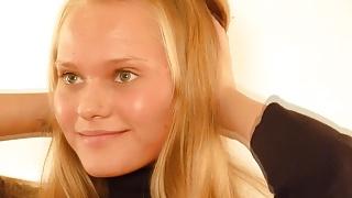 Golden-blonde Russian lust-nymph